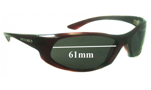 Mako Unknown Replacement Sunglass Lenses - 61mm Wide