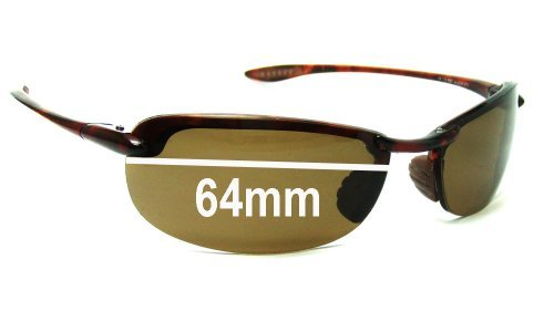 Maui Jim Sport Makaha MJ405 Replacement Sunglass Lenses - 64mm Wide