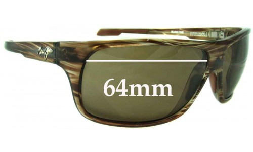 Maui Jim MJ237 Island Time Replacement Sunglass Lenses - 64mm Wide