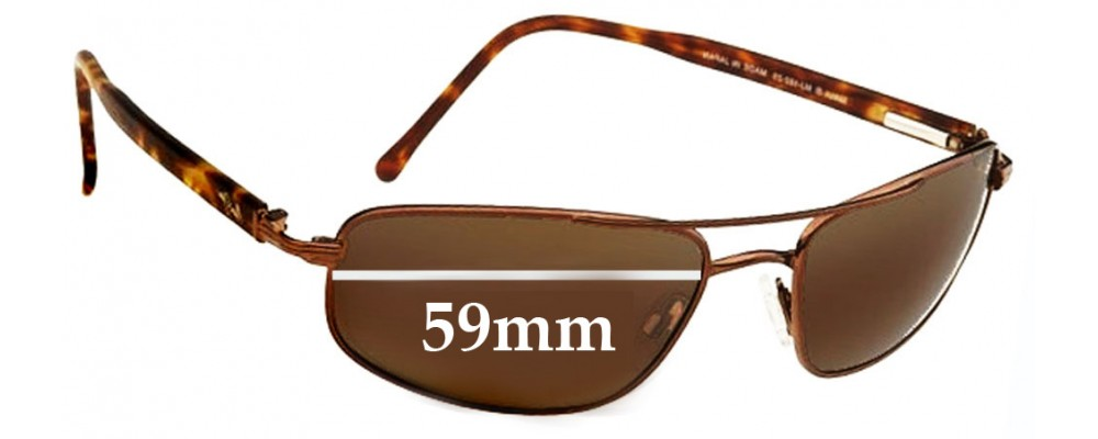 c946189478 Maui Jim MJ162 Kahuna Replacement Sunglass Lenses - 59mm Wide