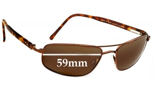 Maui Jim MJ162 Kahuna Replacement Sunglass Lenses - 59mm Wide