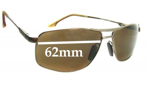 Maui Jim MJ207 Kapena Replacement Sunglass Lenses - 62mm Wide