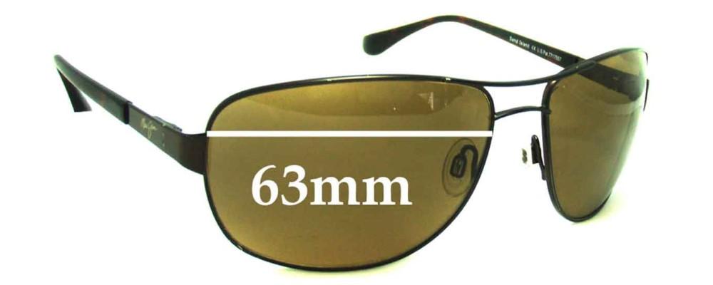 4815bda5691 Maui Jim MJ253 Sandy Island Replacement Lenses - 63mm Wide ...
