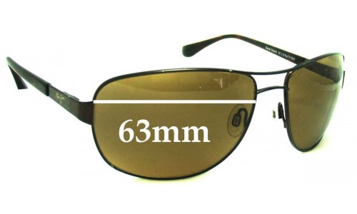 Sunglass Fix Replacement Lenses for Maui Jim MJ253 Sand Island - 63mm Wide