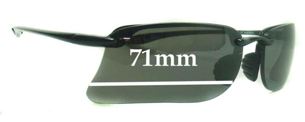 Maui Jim MJ41102 Replacement Sunglass Lenses - 71mm Wide