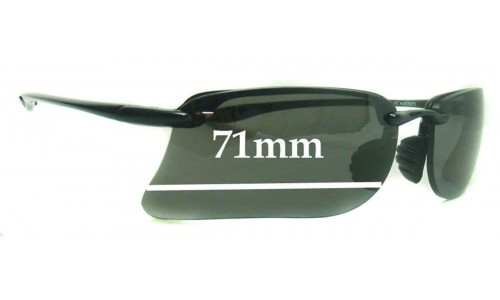 Sunglass Fix Replacement Lenses for Maui Jim MJ411-02 - 71mm Wide