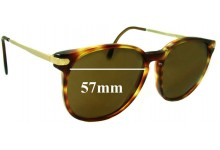 Sunglass Fix New Replacement Lenses for Monsieur 7112 - 57mm Wide