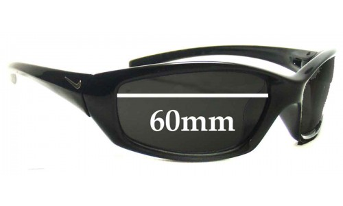 Nike GDO SQUARE EVO128 Replacement Sunglass Lenses  - 60MM wide