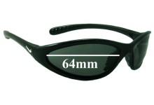 Nike Tarj Classic EVO054 Replacement Sunglass Lenses - 64MM wide