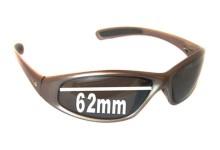 Nike Tarj Square EV0015 Replacement Sunglass Lenses - 62mm wide