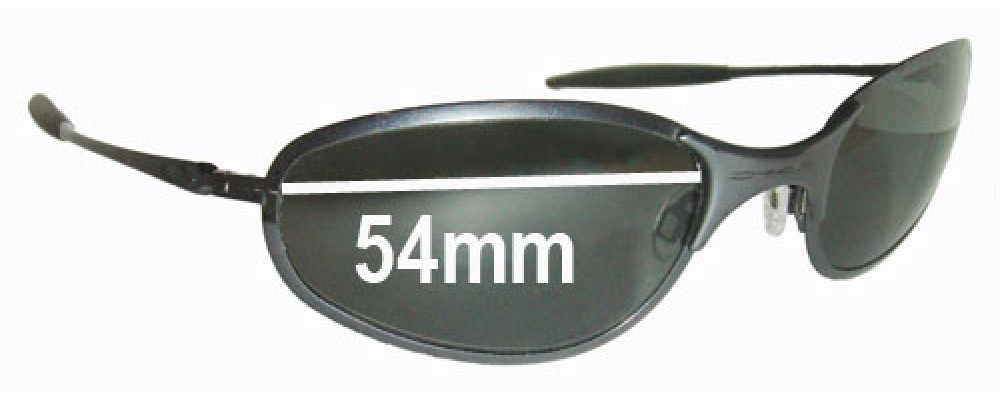 Oakley A-Wire Thick Replacement Sunglass Lenses - 54mm Wide - awire a wire