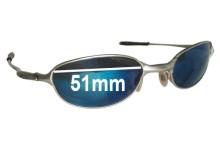 7853b689fd Sunglass Fix Replacement Lenses for Oakley E Wire 2.1 - 51mm wide