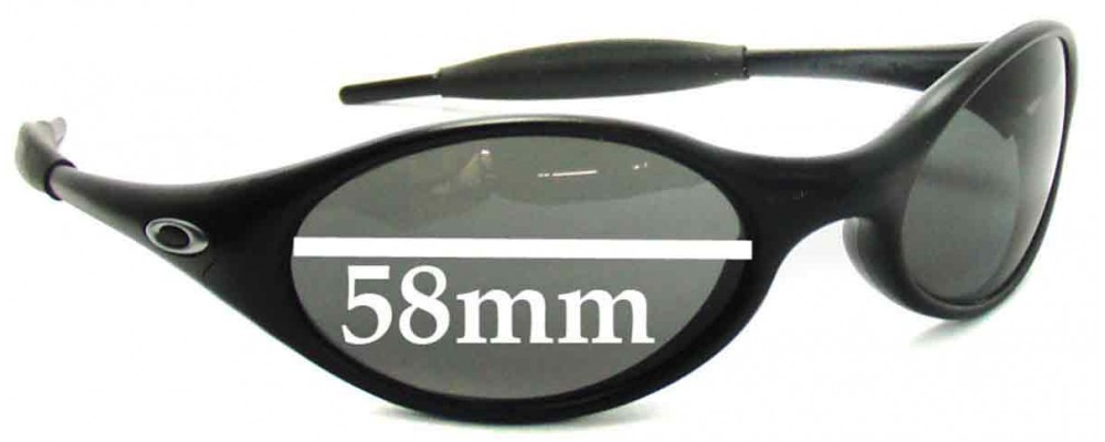 Oakley New Eye Jacket Replacement Sunglass Lenses 1999 - 2002 release dates - 58 mm wide