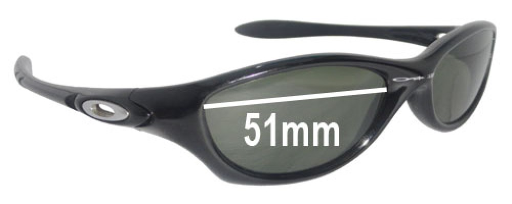 Oakley Fate Replacement Sunglass Lenses - 51mm wide