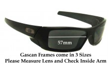 Oakley Gascan Asian Fit Replacement Sunglass Lenses - 57mm Wide