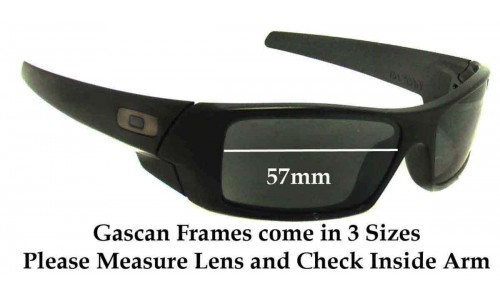 Sunglass Fix Replacement Lenses for Oakley Gascan Asian Fit - 57mm Wide