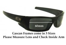 Oakley Gascan 60mm wide Replacement Sunglass Lenses