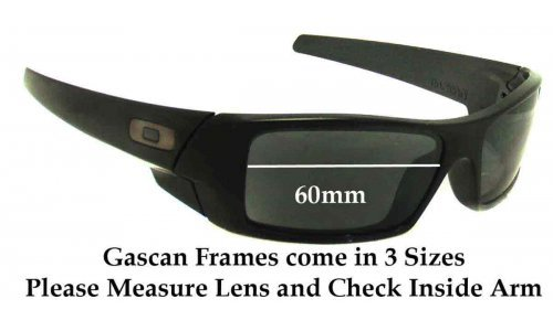 Oakley Gascan 60mm wide Sunglass Replacement Lenses