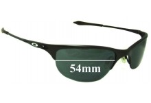 Oakley Half Wire Replacement Sunglass Lenses - 54mm Wide