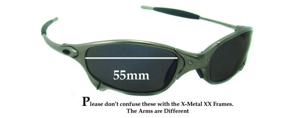 Sunglass Fix Replacement Lenses for Oakley X Metal Juliet - 55mm wide