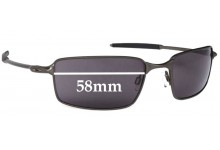 Oakley 2006 - New Square Wire Replacement Sunglass Lenses - 58mm Wide