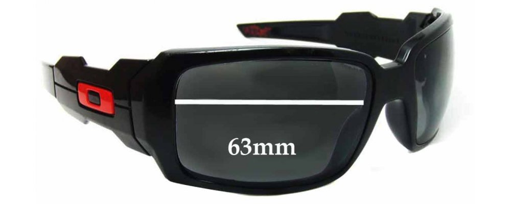 Oakley Oil Drums Replacement Sunglass Lenses - 63mm wide