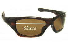 Oakley Pit Bull OO9127 Replacement Sunglass Lenses - 62mm wide