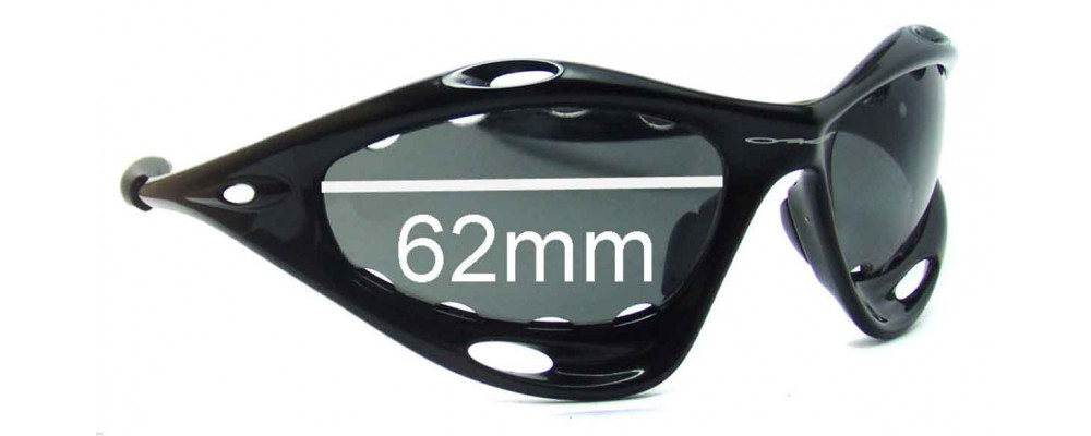Oakley Water Jacket Generation 2 Replacement Sunglass Lenses - Vented Lenses - Around 2006+ - 62mm Wide