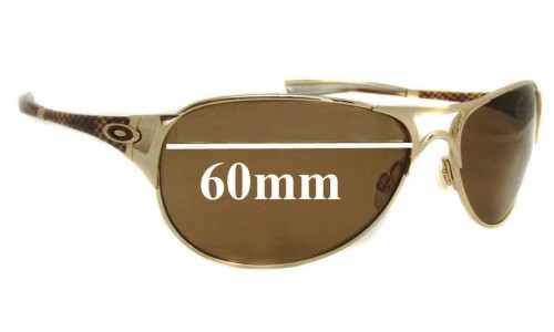 Oakley Restless Replacement Sunglass Lenses - 60mm wide