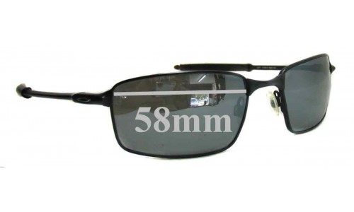 Oakley Square Wire T Replacement Sunglass Lenses - Version T - 58mm Wide