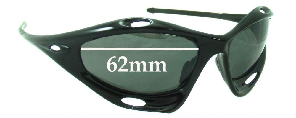 Oakley Racing Jacket Generation 2 Replacement Sunglass Lenses - Non Vented Lenses - Around 2006+ - 62mm Wide