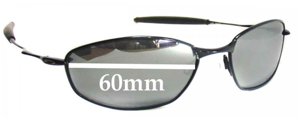 Oakley Whisker Replacement Sunglass Lenses - 60mm wide