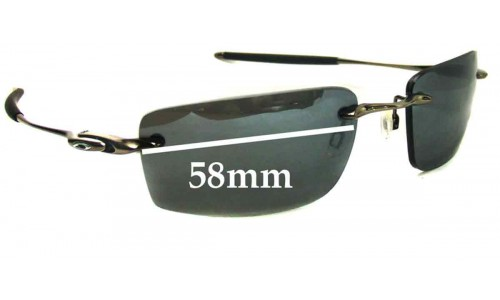 Sunglass Fix Replacement Lenses for Oakley Why 8.2 - 58mm Wide