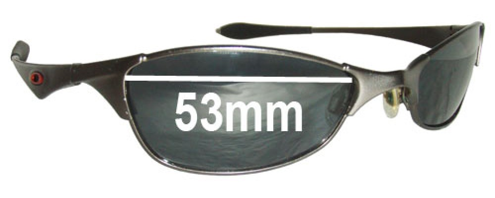 Oakley Wiretap Replacement Sunglass Lenses - 53mm wide