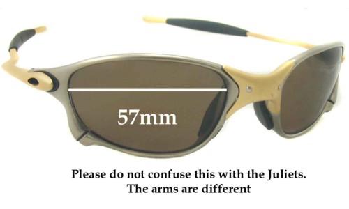 Sunglass Fix Replacement Lenses for Oakley X METAL XX - 57mm wide