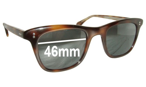 Oliver Peoples Lukas New Sunglass Lenses - 46MM wide
