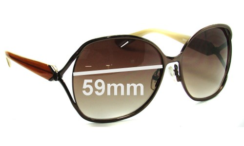 Oroton Del A Mer Replacement Sunglass Lenses - 59mm Wide