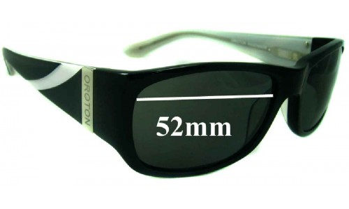Oroton Madrid New Sunglass Lenses - 52mm Wide