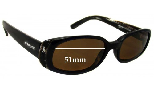 Oroton Palm Springs Replacement Sunglass Lenses - 51MM Wide