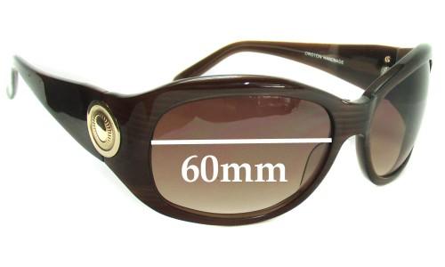 Oroton Tropicana New Sunglass Lenses - 60mm Wide