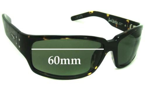 Otis Dark Horse New Sunglass Lenses - 60mm wide