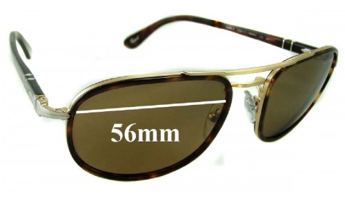 Persol 2409-S Replacement Sunglass Lenses - 56mm wide