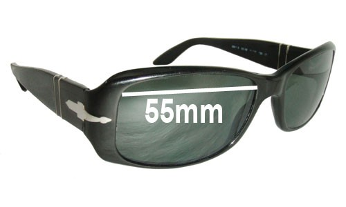 Persol 2861s Replacement Sunglass Lenses - 55mm wide