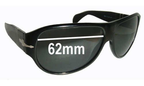 Persol 2943-S New Sunglass Lenses - 62mm wide