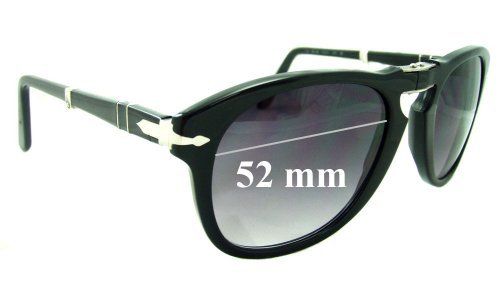Persol 714 Replacement Sunglass Lenses - 52mm Wide
