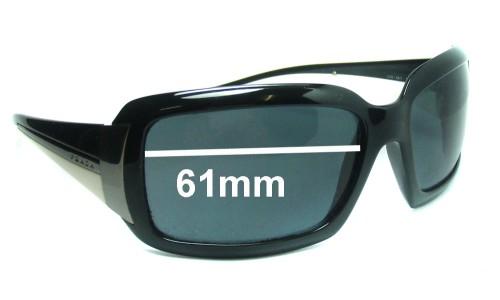 Sunglass Fix Replacement Lenses for Prada SPR01H - 61mm Wide