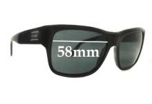 Prada SPR02M Replacement Sunglass Lenses - 58mm wide lens