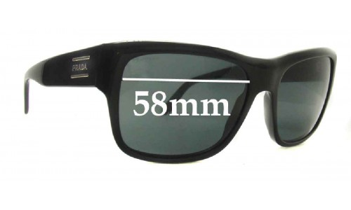 Prada SPR02M Replacement Sunglass Lenses - 58mm wide lens