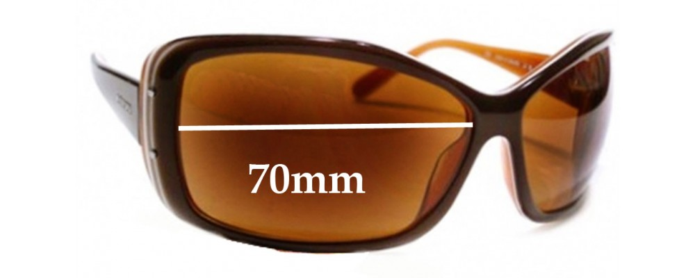 Prada SPR04F 4BX2Z1 Replacement Sunglass Lenses - 70mm wide