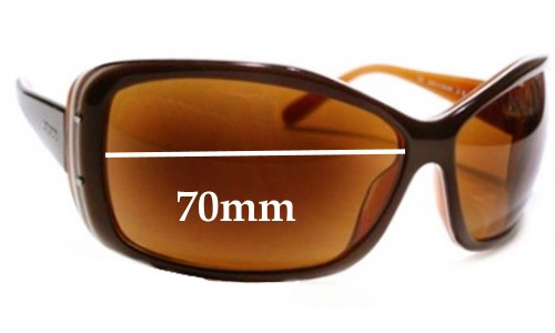 Prada SPR04F 1AB1A1 or 2AU3N1 or 3BU2V1 Replacement Sunglass Lenses - 70mm wide